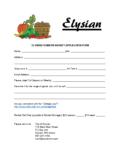 Farmers Market Vendor Application