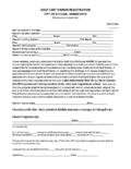 Golf Cart License Application