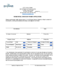Residentail Driveway Permit Application